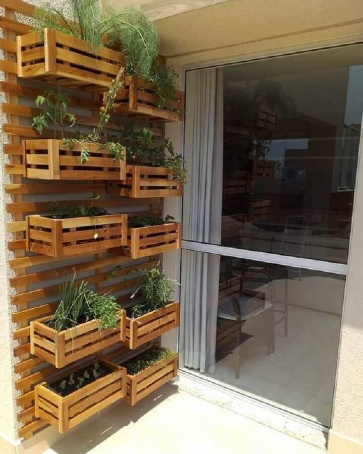 ideia de horta orgânica para varanda de apartamento Foto MdeMulher