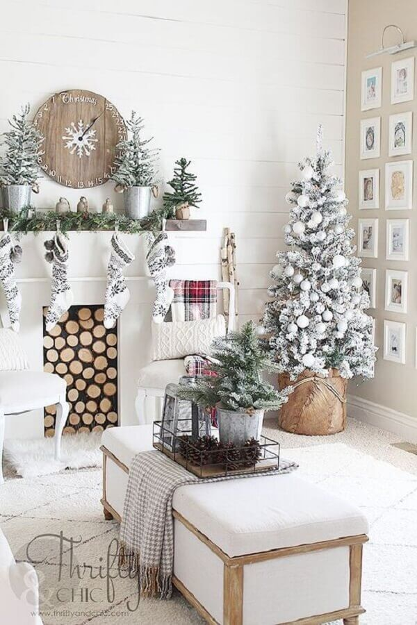 Christmas decoration ideas for white room Foto Pinterest