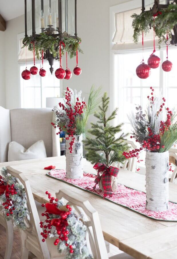 Christmas decoration ideas for dining room Photo Pinterest