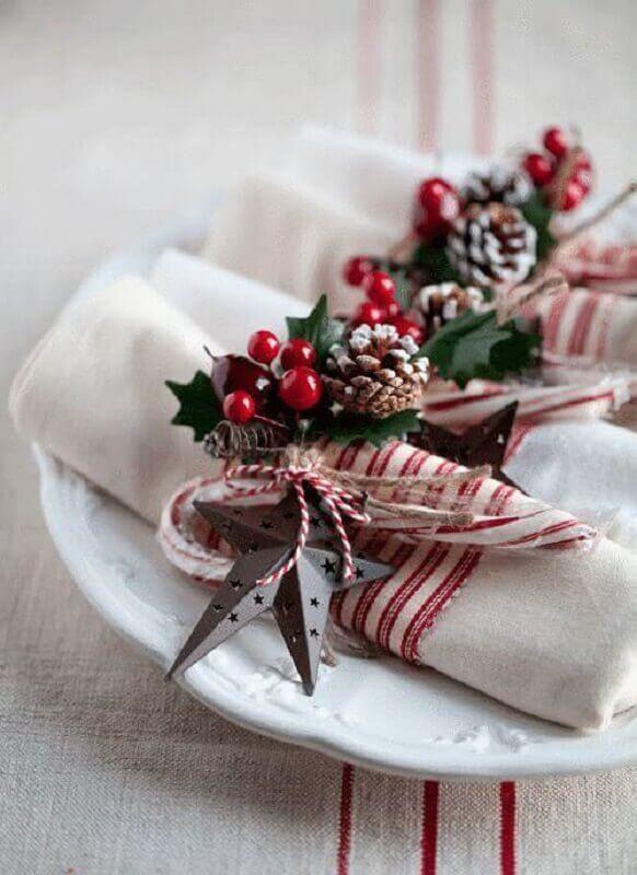 ideias de enfeites natalinos para mesa Foto Ideias Decor