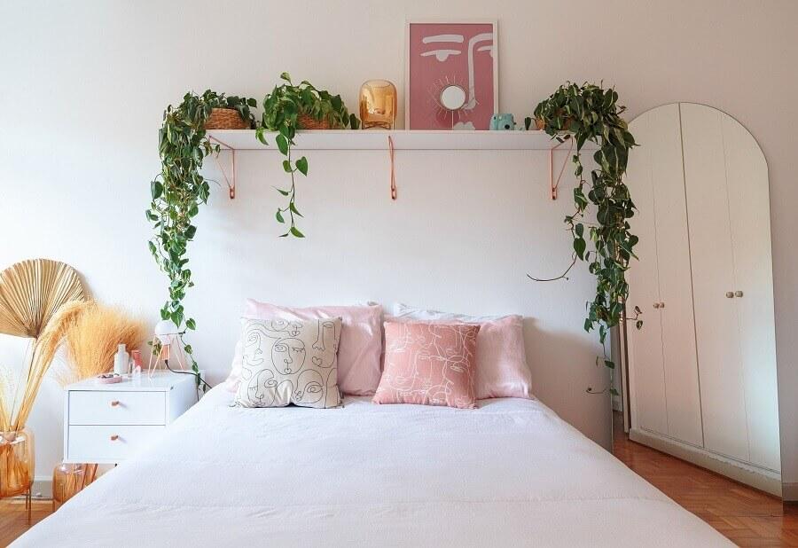 ideias de prateleiras para plantas para decoração de quarto branco Foto Histórias de Casa