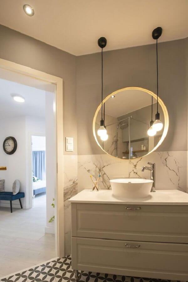 luminária pendente para bancada de banheiro  Foto Pinterest