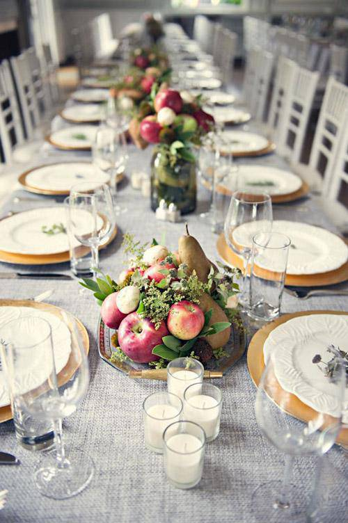Mesa de jantar para ceia de reveillon