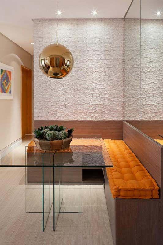 Mesa de canto alemão de vidro