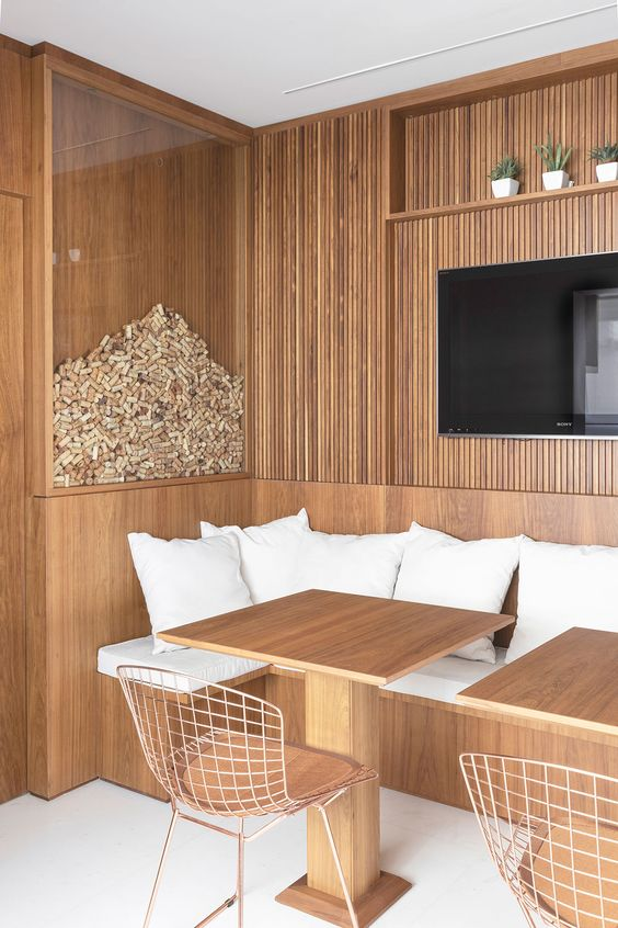 Mesa de centro alemão de madeira