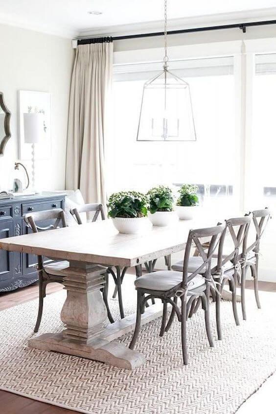 Mesa de jantar com cadeira paris de madeira e mesa de madeira combinando