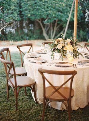 Festa no jardim com cadeira paris