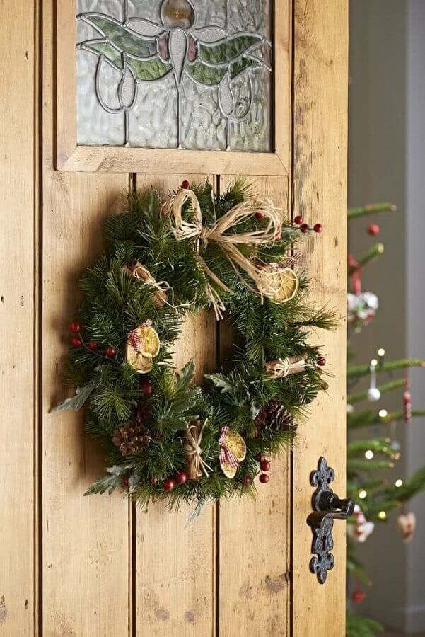 Christmas ornament model for classic door Foto Rustic & Woven