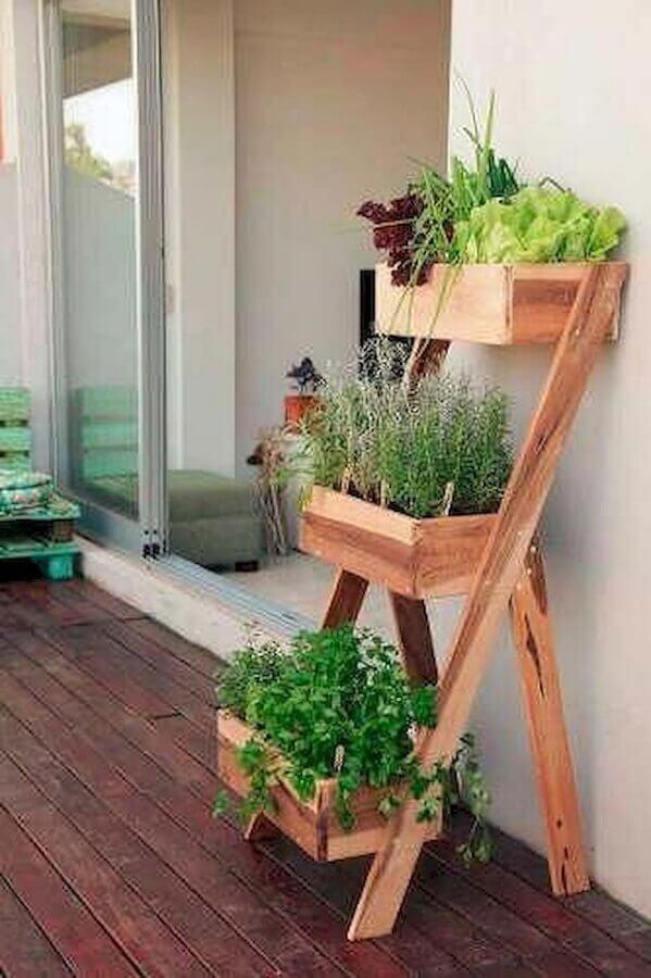 modelo de horta orgânica para apartamento pequeno Foto Pinterest