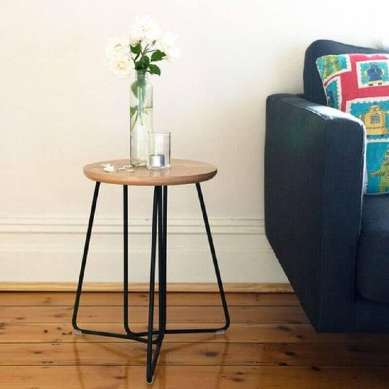 modelo diferente de mesa redonda de canto para sala Foto Hunt Furniture