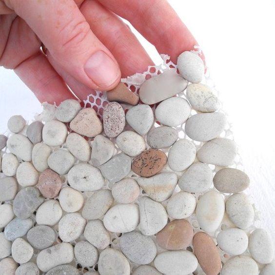Pedra seixo telada
