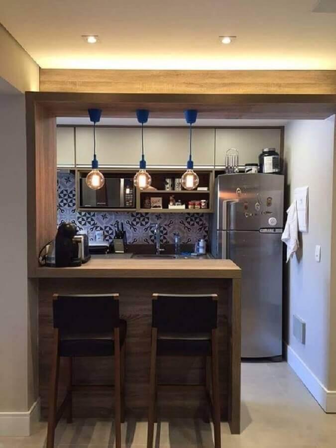 pendente para bancada de cozinha  americana simples  Foto Pinterest