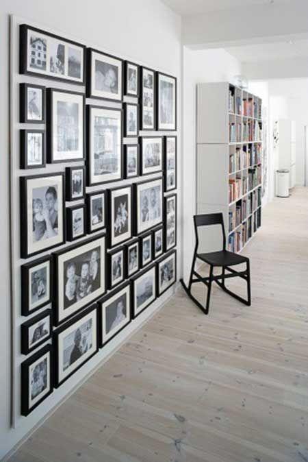Porta retrato na parede de casa