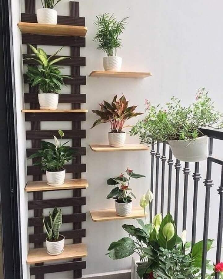 prateleira para plantas na varanda Foto Pinterest