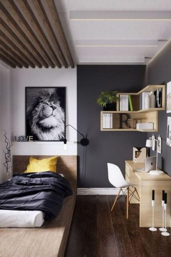 quarto pequeno de solteiro simples Foto Futurist Architecture