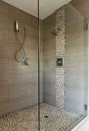 Banheiro com seixo