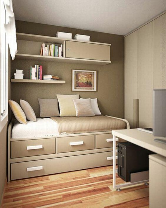 Sofá para quarto moderno como escritório