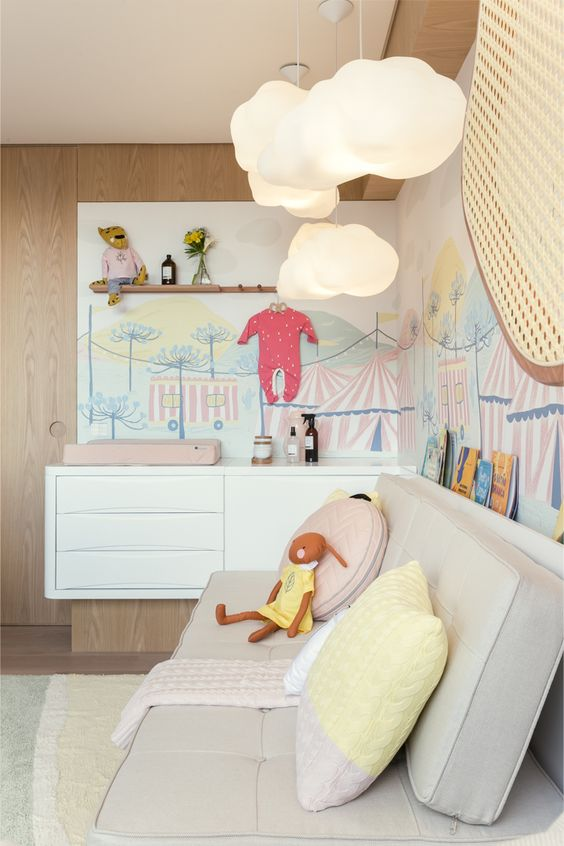 Sofá cama para quarto de bebê