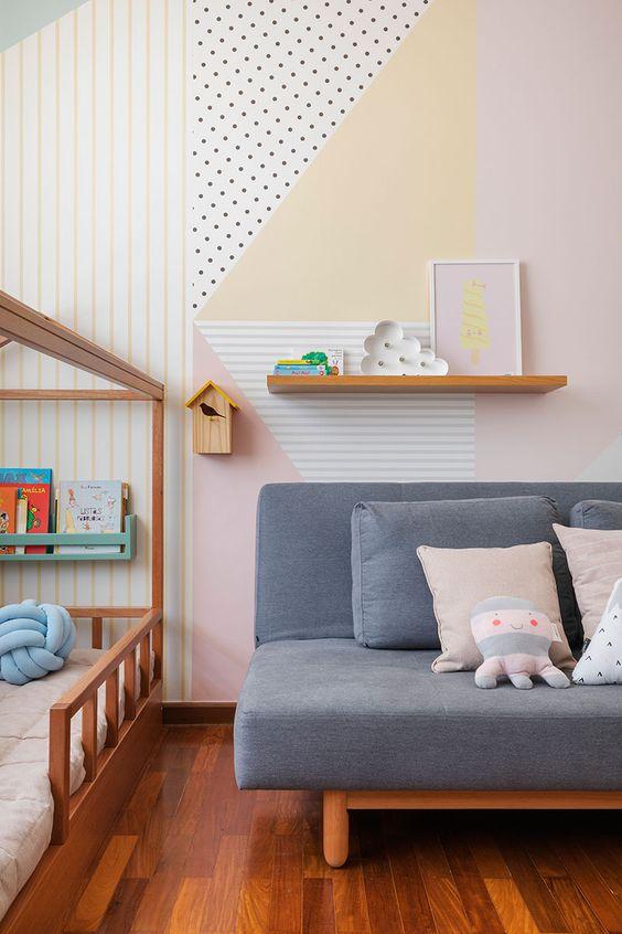 Sofá cama para quarto infantil