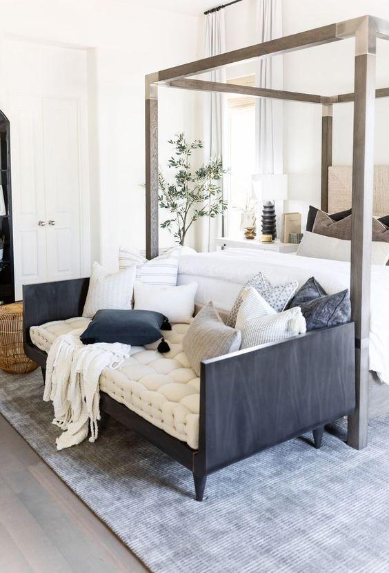 Sofá para quarto cinza