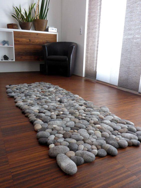 Tapete para casa de pedras seixos