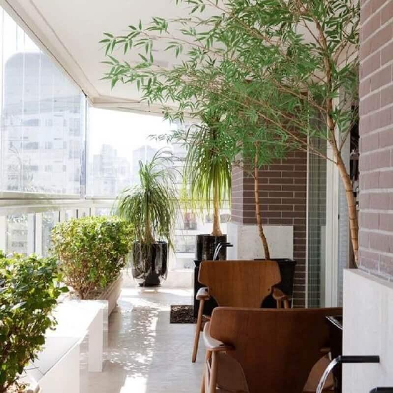 vasos de plantas para varanda de apartamento amplo  Foto Pinterest