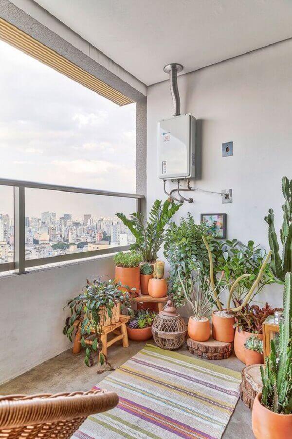 vasos de plantas para varanda de apartamento simples  Foto Casa de Valentina
