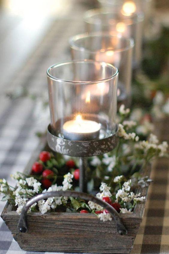 Monte lindos arranjos para enfeites de natal para mesa