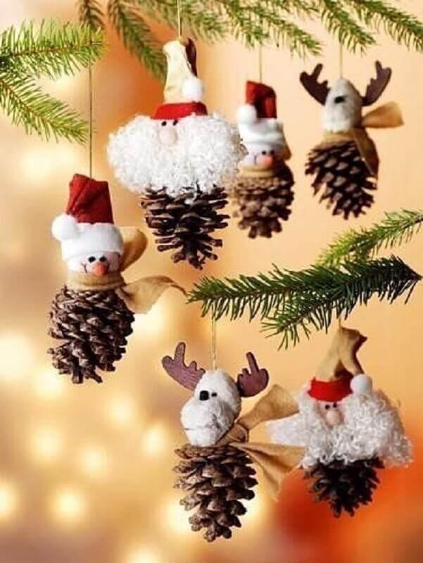 árvore de Natal com pinhas personalizadas divertidas Foto Christmas Glitter