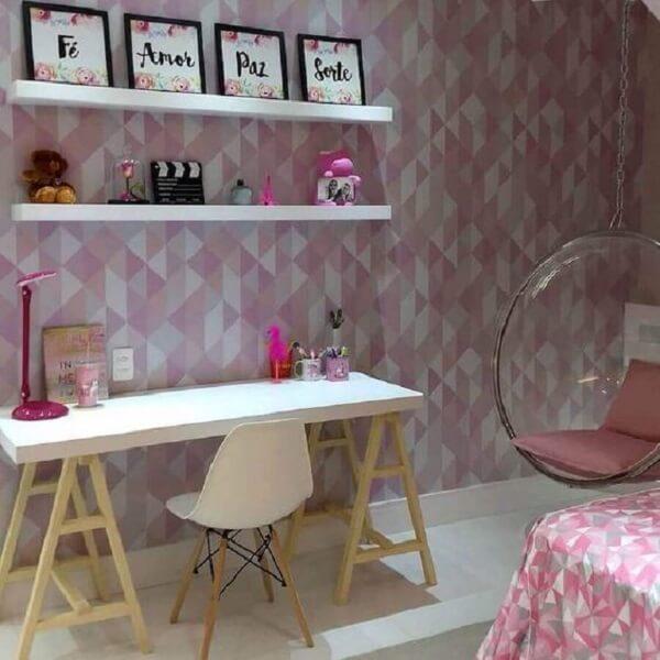 Decoração quadros coloridos delicados para quarto feminino
