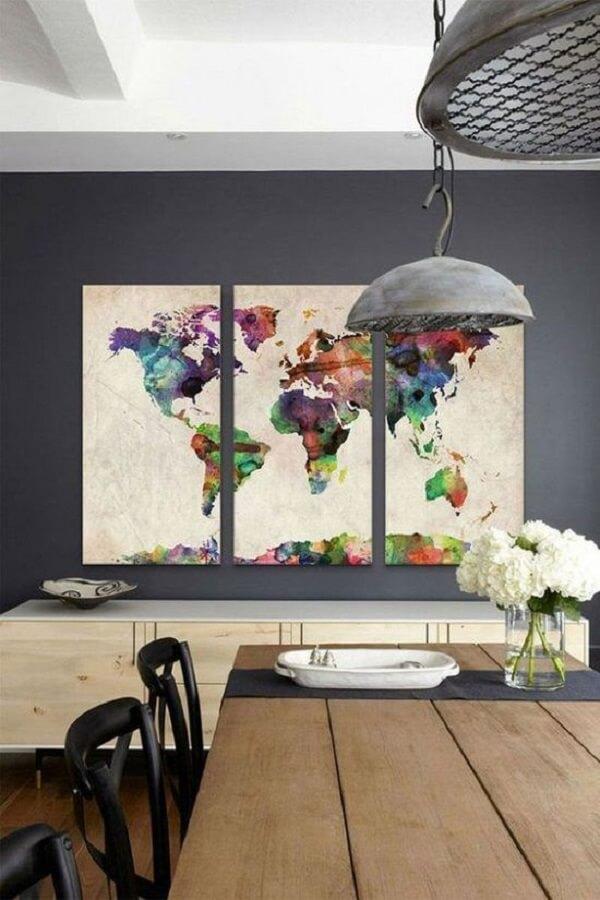 Decoração quadros coloridos para os amantes de viagem