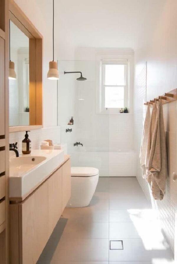 Modelo de janela guilhotina para o banheiro