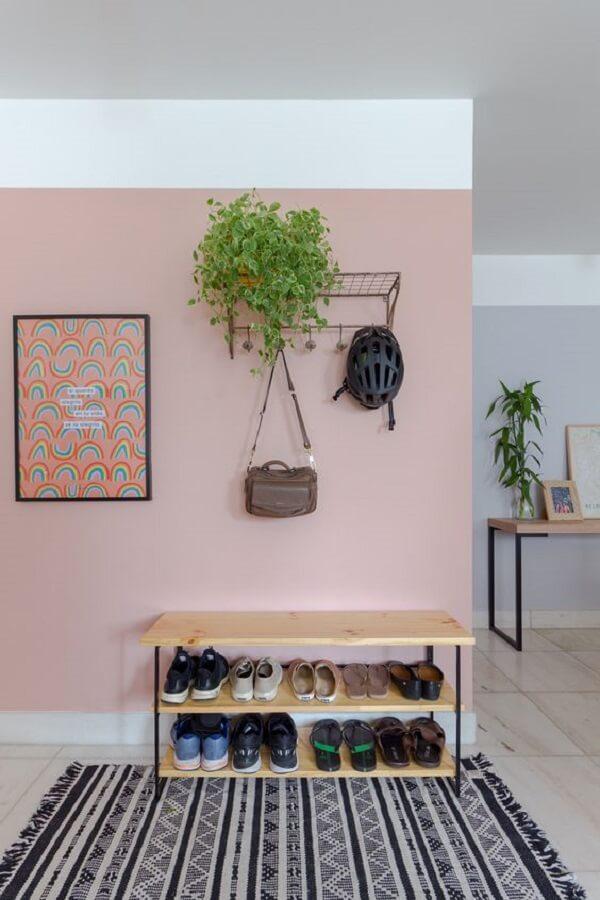 Modelo de sapateira para hall de entrada apartamento discreta