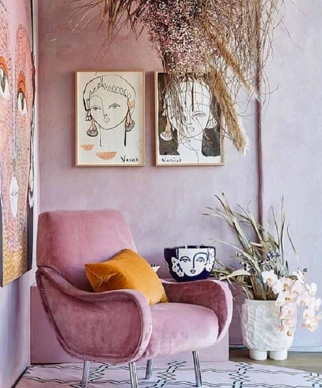O rosa e amarelo podem estrelar qualquer espaço da sua casa