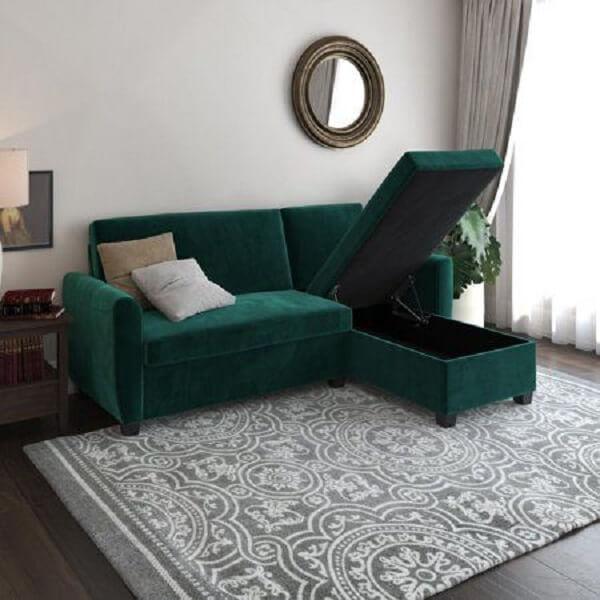 O sofá baú traz funcionalidade e praticidade para decoração
