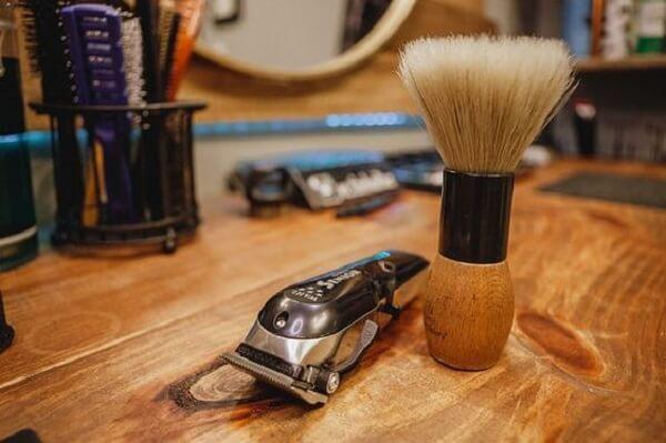 Objetos de decoração para barbearia
