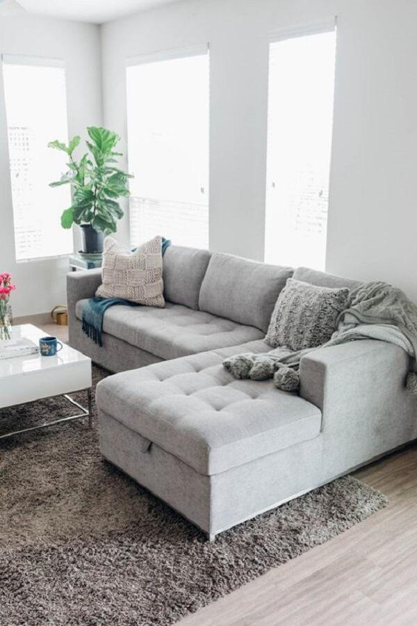 Organize seus sapatos, livros e demais acessórios no sofá baú