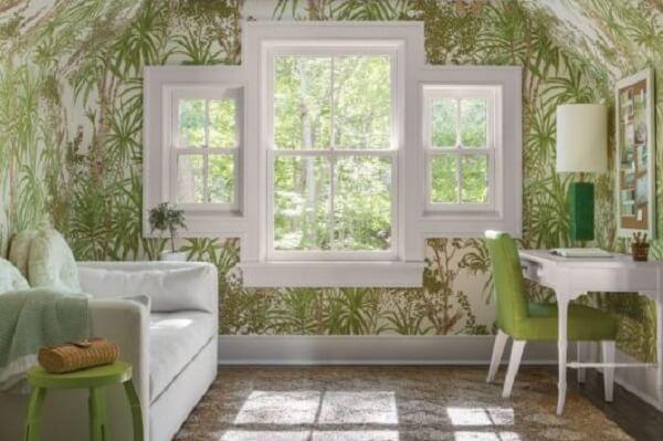 Projeto clean com três modelos de janela de guilhotina juntas