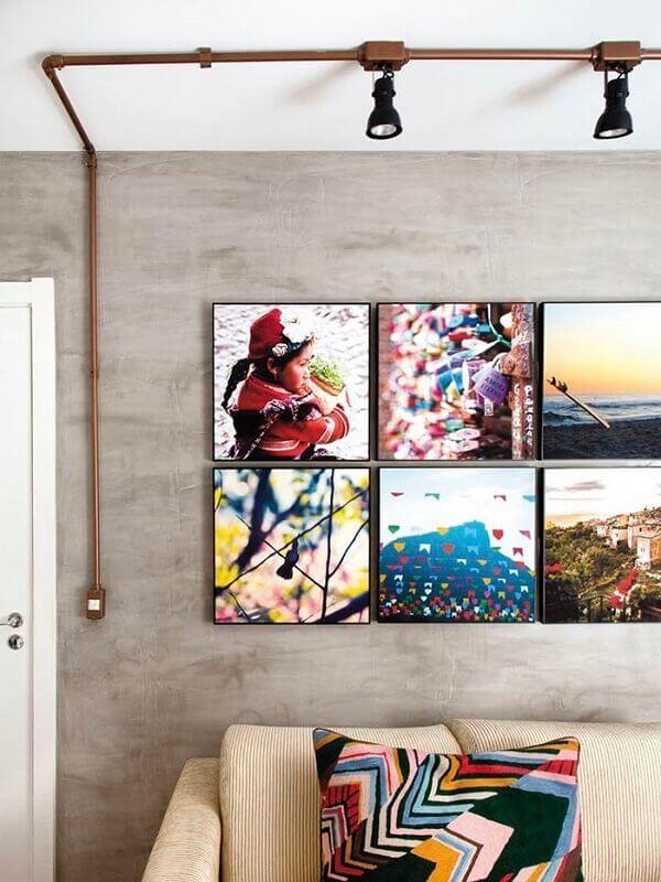 Separe seus melhores clicks para formar uma linda decoração com quadros coloridos