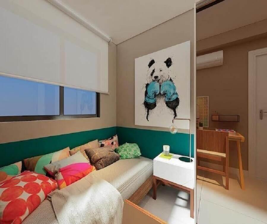 almofadas coloridas e quadros para quarto infantil feminino Foto Manga Rosa Arquitetura