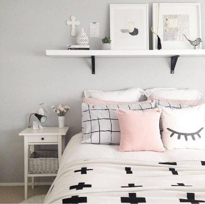 almofadas e quadros para quarto feminino Tumblr Foto Pinterest