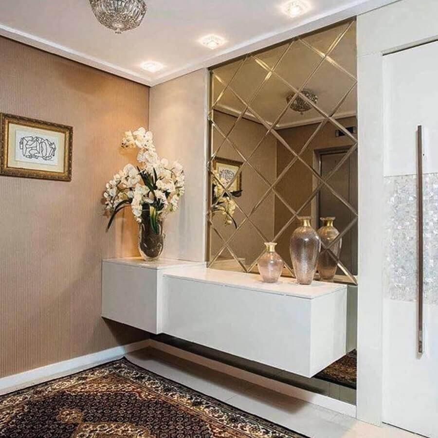 aparador com espelho para hall de entrada sofisticado planejado Foto Pinterest