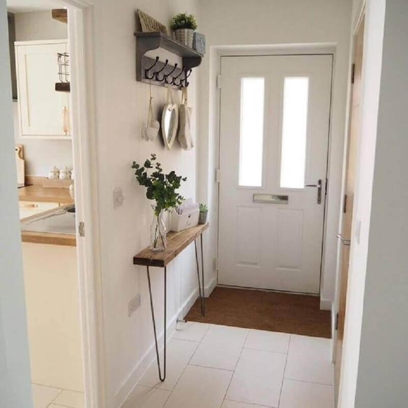 aparador para hall de entrada pequeno e simples todo branco Foto Apartment Therapy