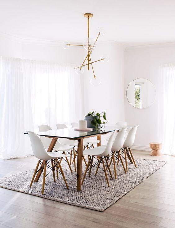 Base para mesa de vidro com pé de palito