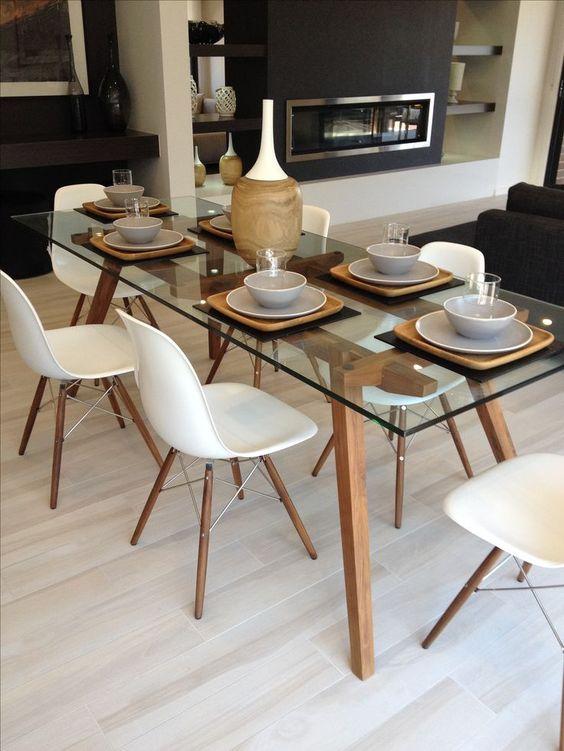 Base para mesa de vidro com pé de palito estilo retrô