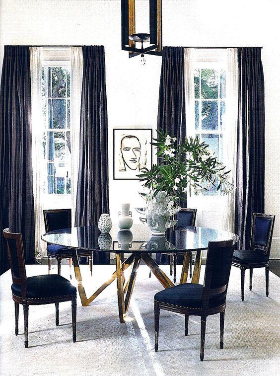 Base para mesa de vidro de ferro dourado