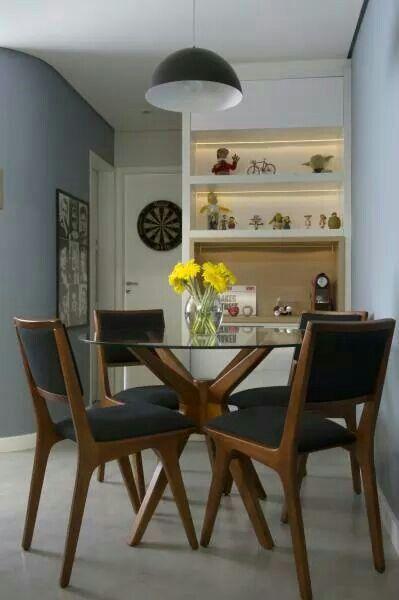 Base para mesa de vidro de madeira preta