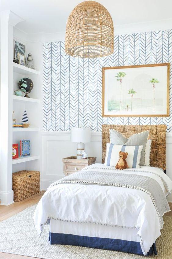 Cabeceira infantil madeira para cama de solteiro