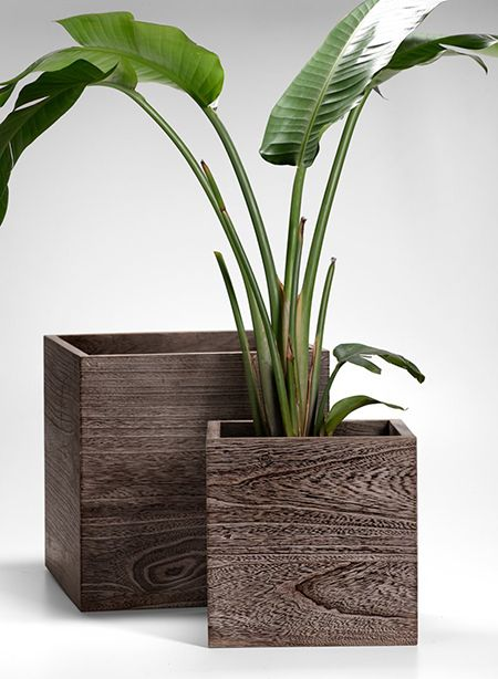 Cachepot vaso de madeira