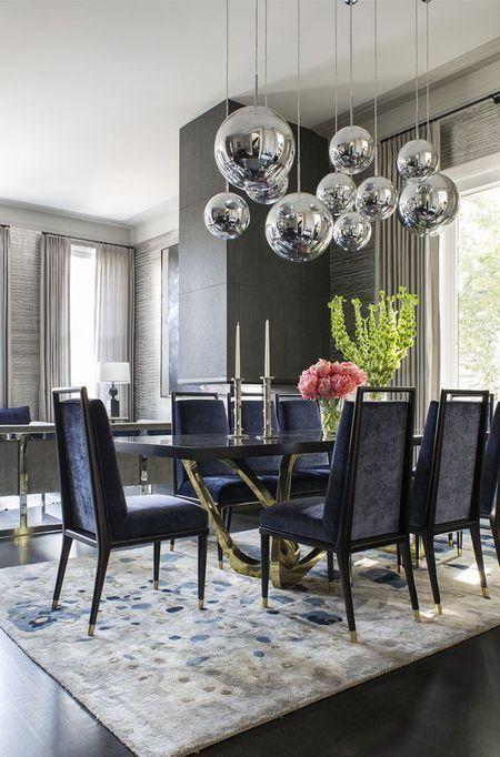 Cadeiras para mesa de jantar preta com dourado